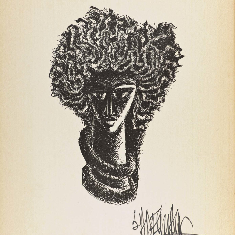 Syed Sadequain, Head IV, c.1966