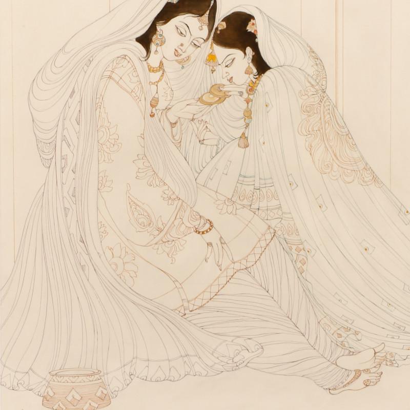 <span class=&#34;artist&#34;><strong>Abdur Rahman Chughtai</strong></span>, <span class=&#34;title&#34;><em>Mughal Princesses</em>, c.1967</span>