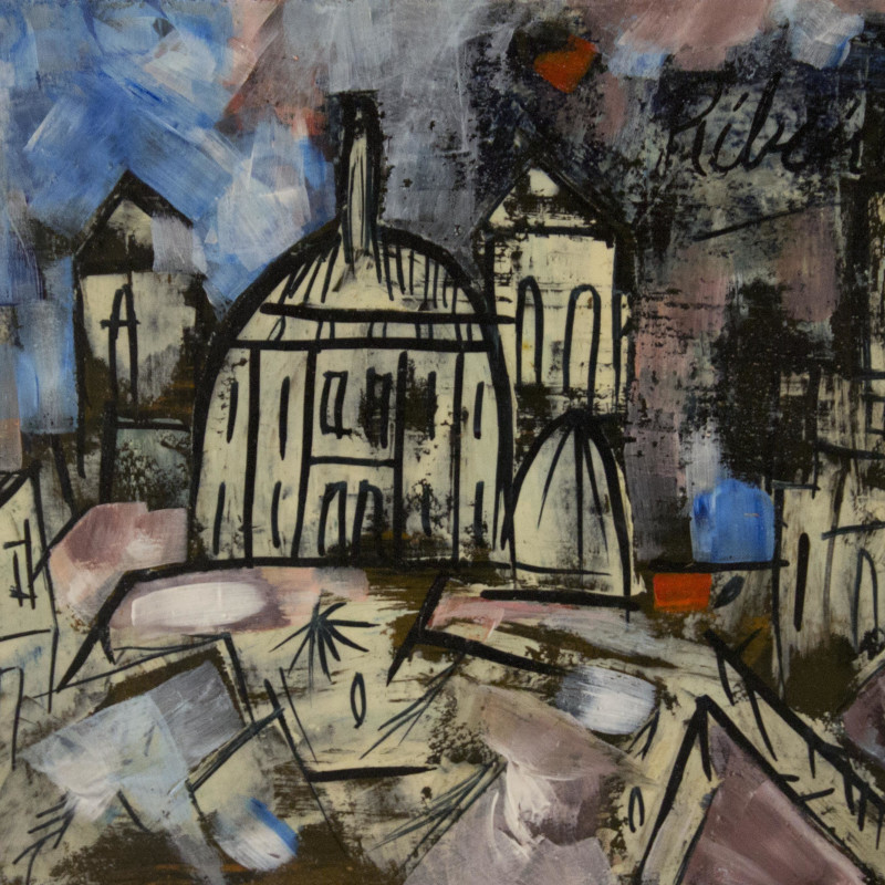 <span class=&#34;artist&#34;><strong>Lancelot Ribeiro</strong></span>, <span class=&#34;title&#34;><em>Untitled (Landscape with Domes)</em>, 1964</span>
