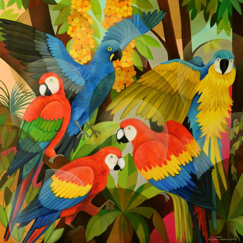 <span class=&#34;artist&#34;><strong>Senaka Senanayake</strong></span>, <span class=&#34;title&#34;><em>Macaws</em>, 2015</span>