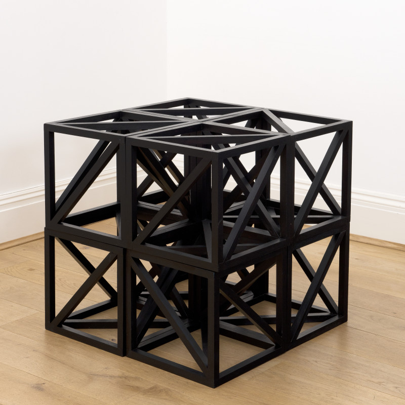 Rasheed Araeen, Small Black Cube: 24 x 24 x 24 inch, 2019