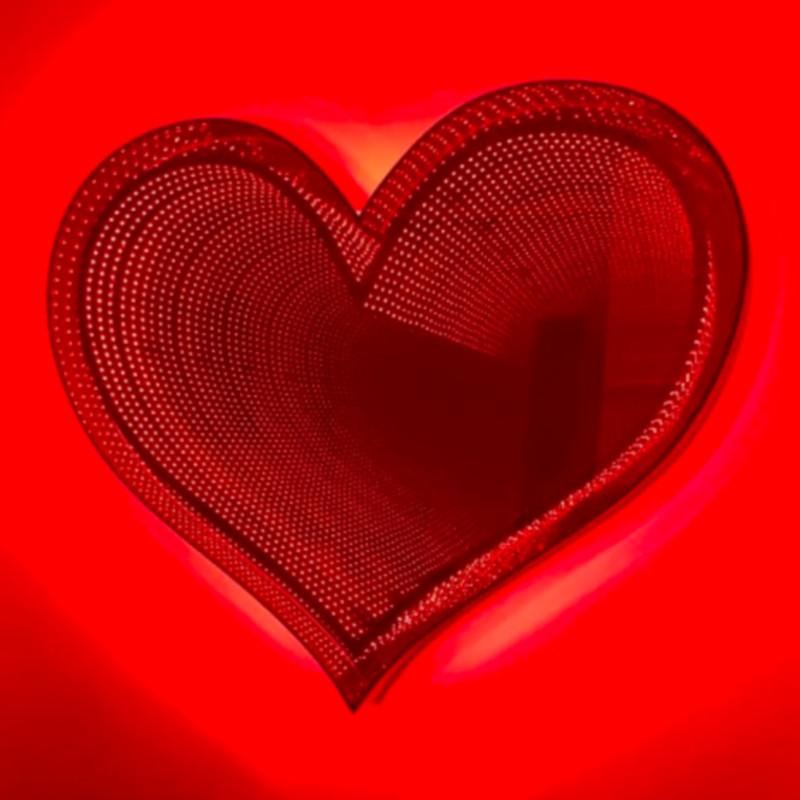 Emmanuelle Rybojad - Infinity Heart Red, 2018