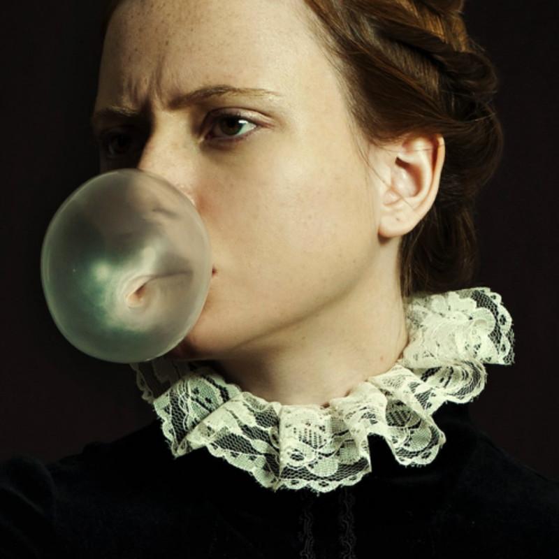 Romina Ressia - Portrait with Bubble Gum