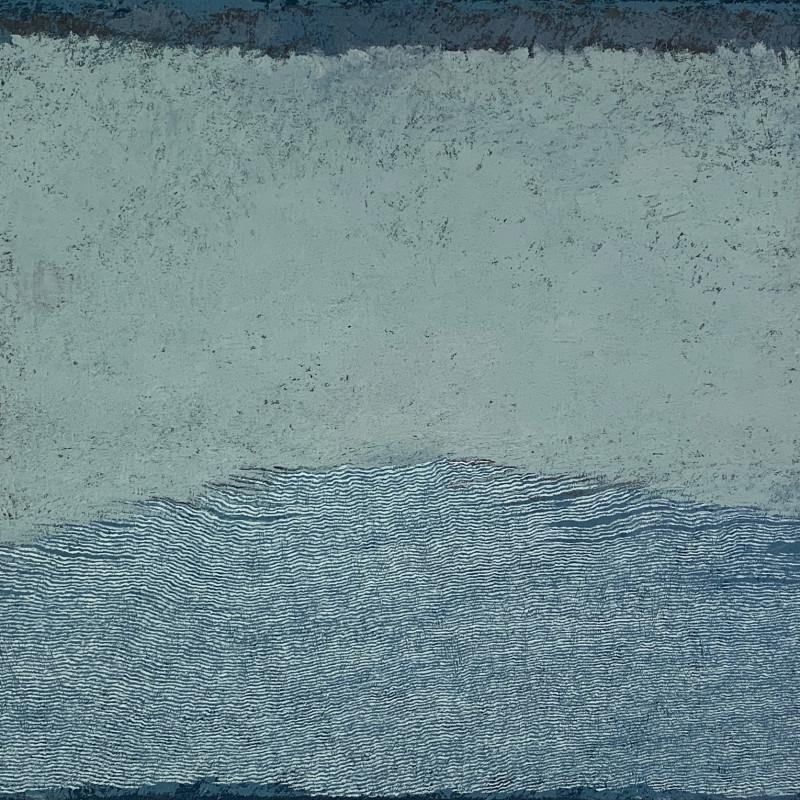 Pamela Burns, Wave, Green on Blue, 2017