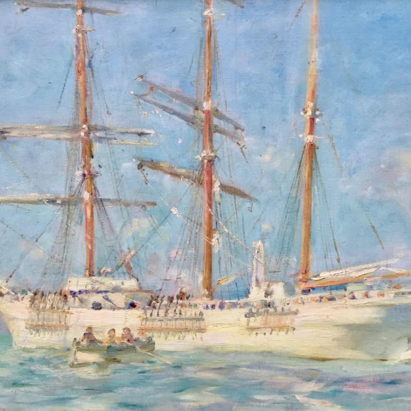Henry Scott Tuke, The White Barque, 1901