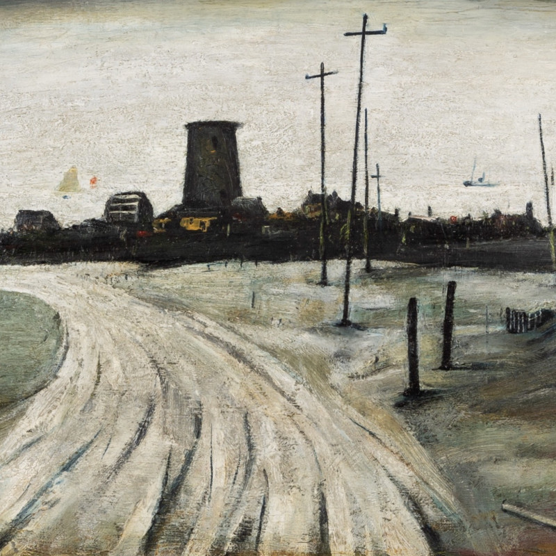 Laurence Stephen Lowry, An Old Windmill (Amlwch, Anglesey), 1941