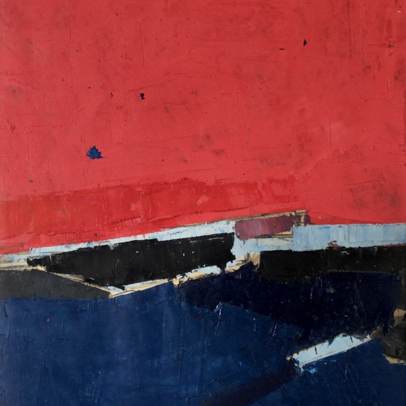 Peter Kinley, Untitled (Red Over Blue), c 1960s