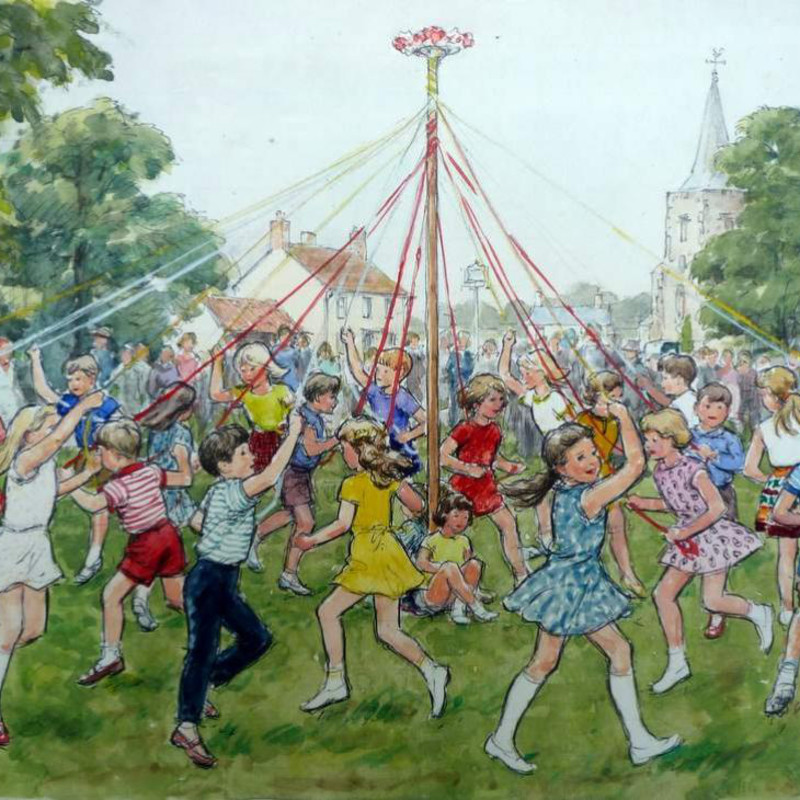 Hubert John Williams - Dancing round the Maypole