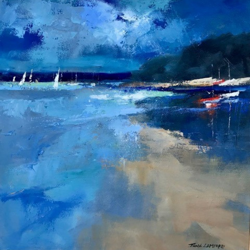 Jane Lampard - Blue light, Mill Bay, Salcombe