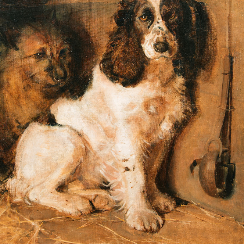 Samuel Fulton - The Sportsman's Dogs: A Spaniel and a Terrier