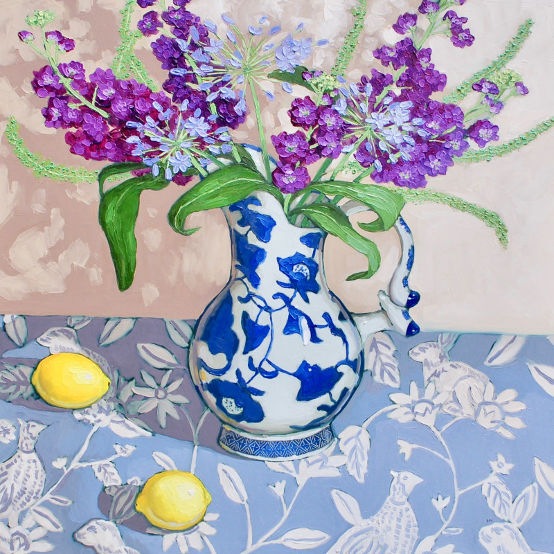 Halima Washington-Dixon - Summer blues, purples and lemons