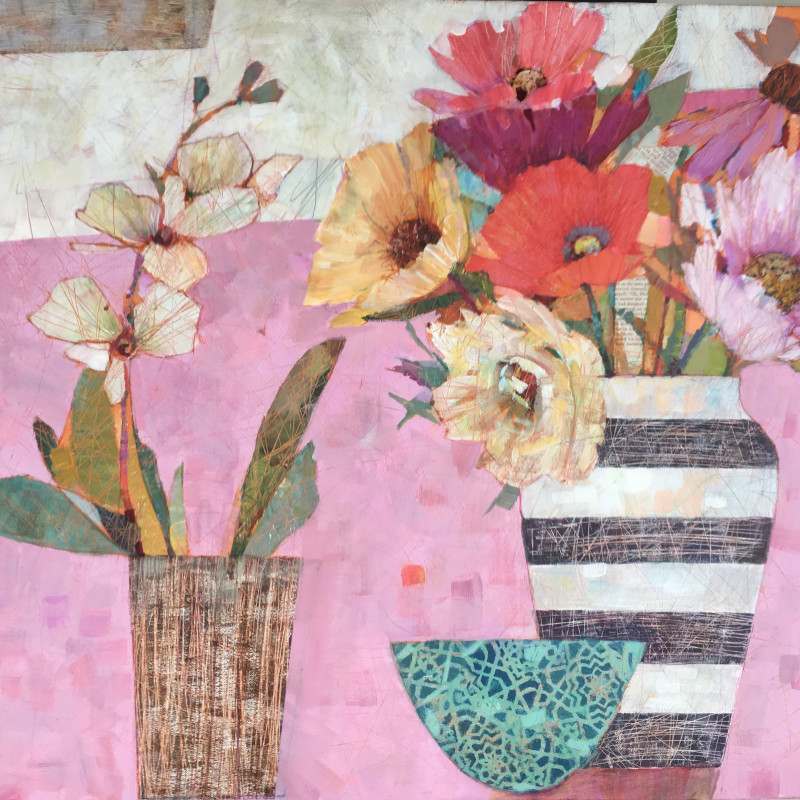 Sally Anne Fitter - Orchid & late summer flowers