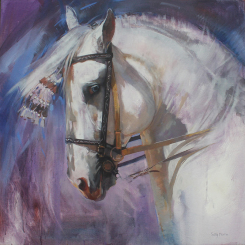 Sally Martin - Grey Andalusian I