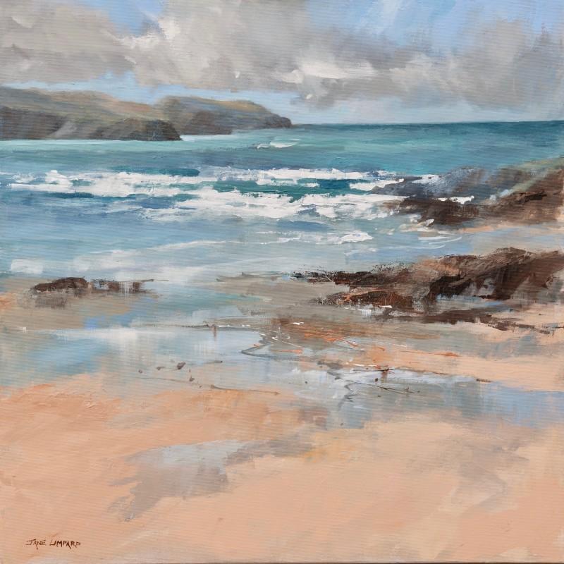 Jane Lampard - Running tide, Treyarnon, Cornwall