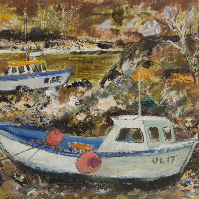 D McClure - Harbour scene
