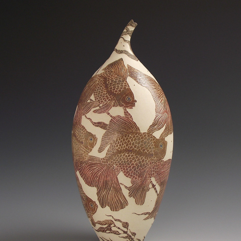 Tiffany Scull - Fancy fish, Veil Tailed & Ryukin fish vessel