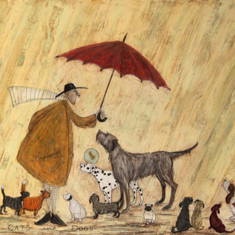 Sam Toft - Cats & dogs SOLD