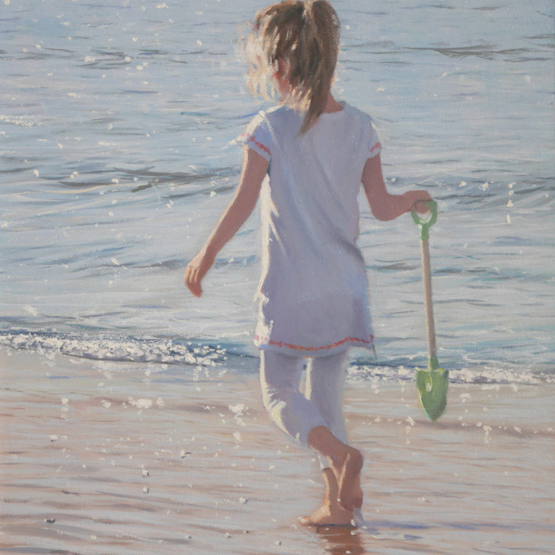Nicholas St John Rosse RSMA - On a warm seashore