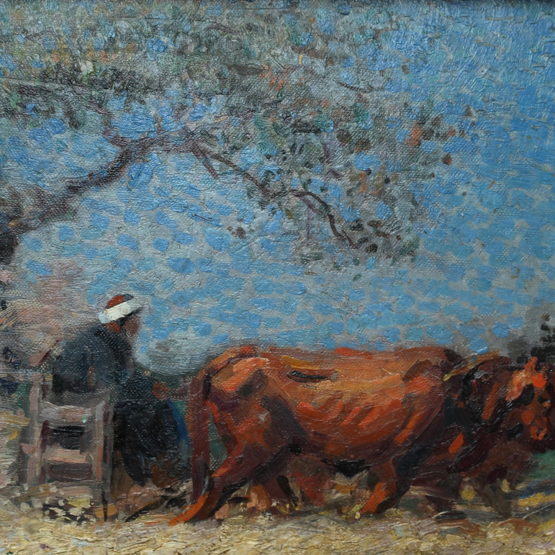 Mahmoud Said - El Norag (The Plow), circa 1920s
