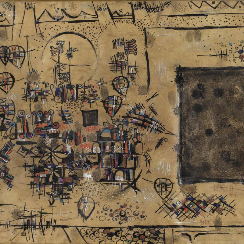 Sadegh Tabrizi, Parchment of Kaaba, ND Circa 1960