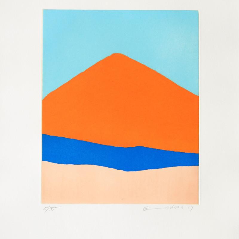 Etel Adnan  Guatemala, 2017  Gravure  48 x 38 cm  30/35