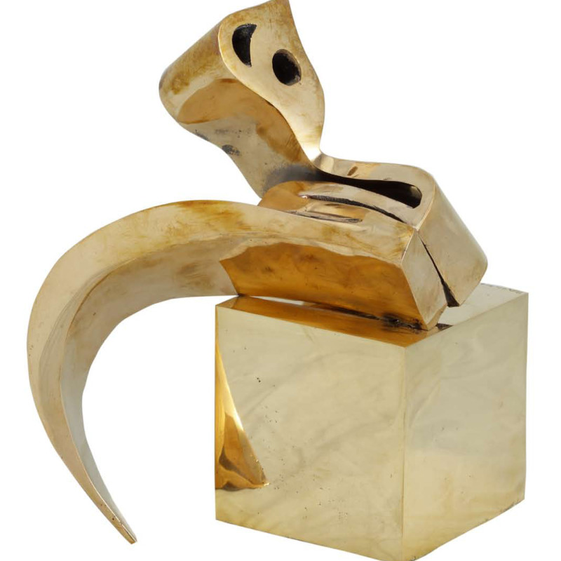 Parviz Tanavoli, Heech and Cube, 2007