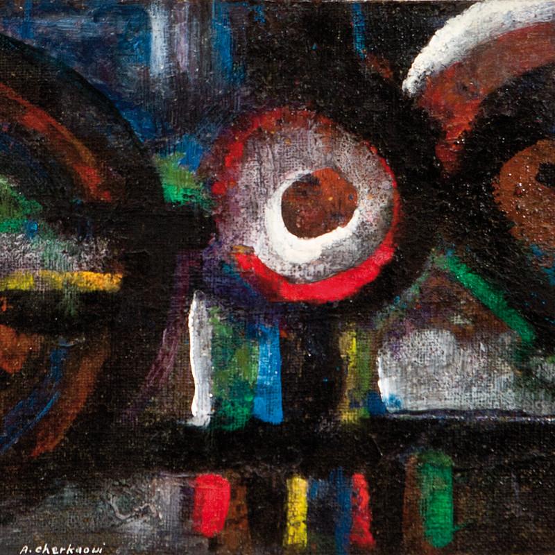 Ahmed Cherkaoui, Les Miroirs Noirs VII, 1965