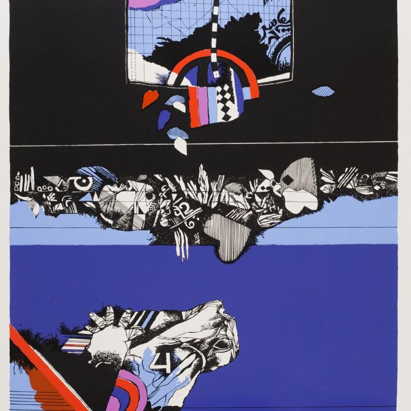 Dia Azzawi - Oriental Scene, 1978