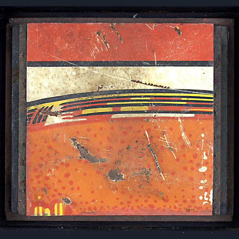 Randall Reid  Driving in Daylight  steel, paint  5 x 5 x 2 inches