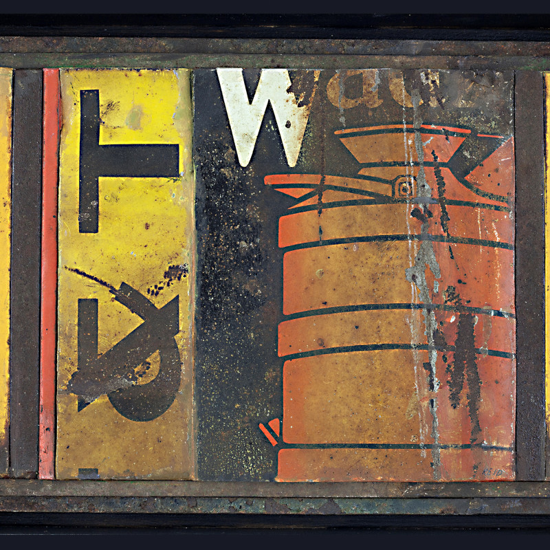 Randall Reid  Oil in Reserve  steel, paint  5.75 x 7.5 x 2 inches