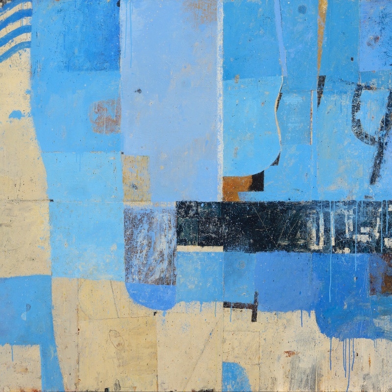 Kevin Tolman The Navigator acrylic & mixed media on canvas 72 x 96 inches