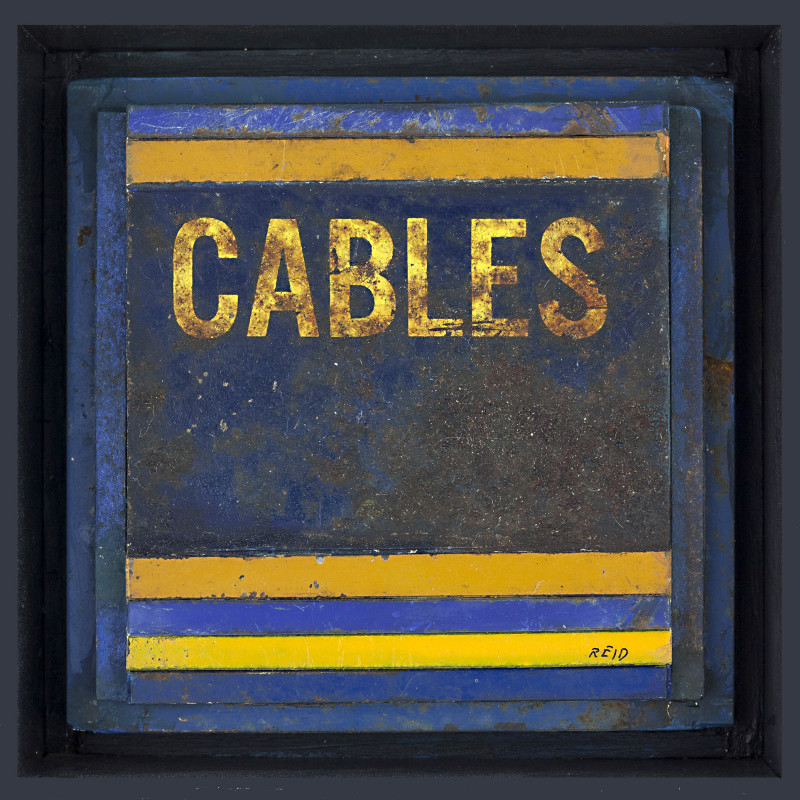 Randall Reid  Cables  steel, paint  4.5 x 4.5 x 2 inches