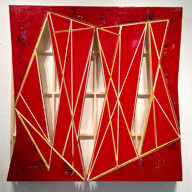 Howard Hersh  Skin Deep 17-4  acrylic on birch and basswood  48 x 48 x 4 inches