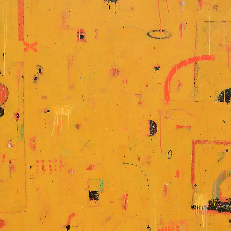 Kevin Tolman Praza Das Praterias acrylic + mixed media on canvas 60 x 42 inches