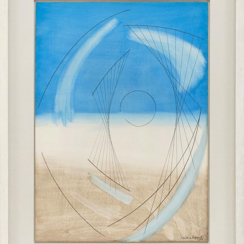 Barbara Hepworth, Atlantic Form (Blue)