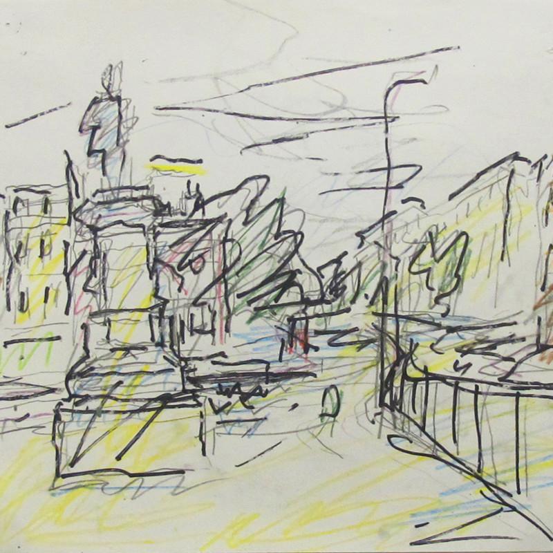 Study for Mornington Crescent - Summer Morning