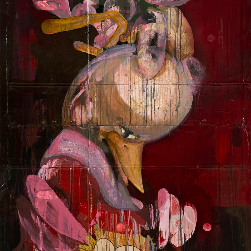 Erkut Terliksiz  Eggs, 2016  Mixed media on found materials  138 x 92 cm