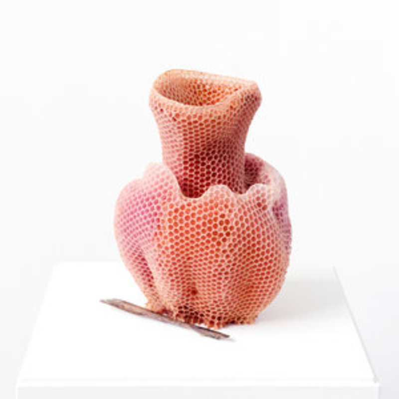 The Honeycomb Vase - Red
