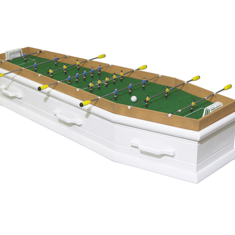 #RIP - Football table coffin