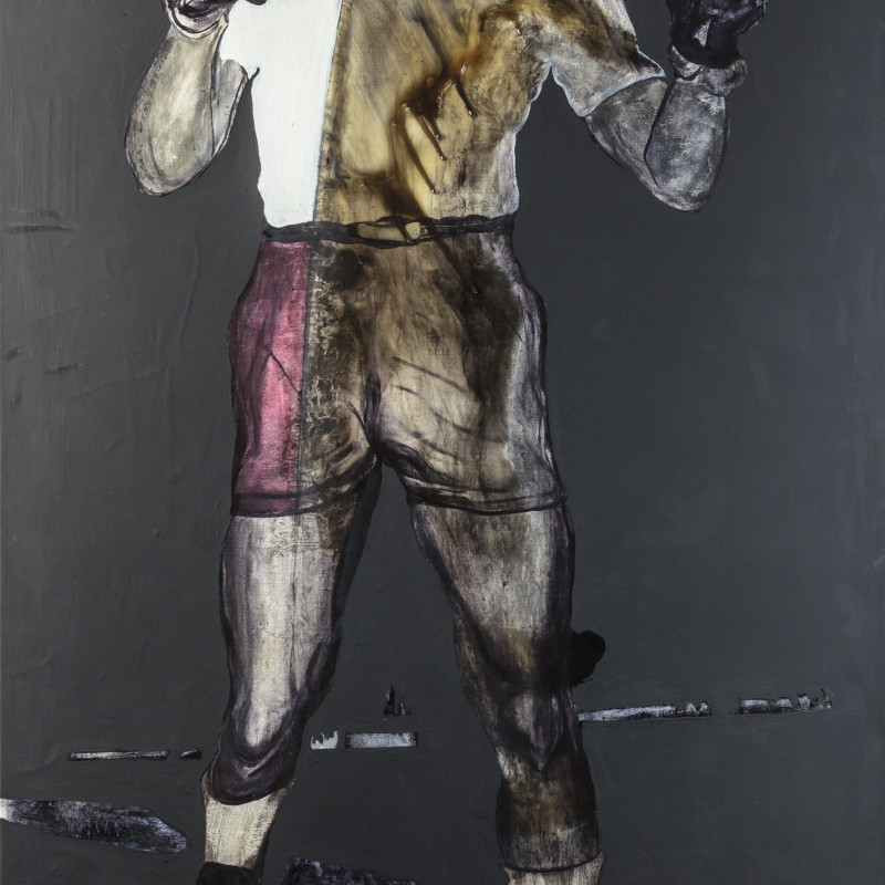 Rob Visje  Mandela, 2014  Oil on canvas  200 x 110 cm  Unicum