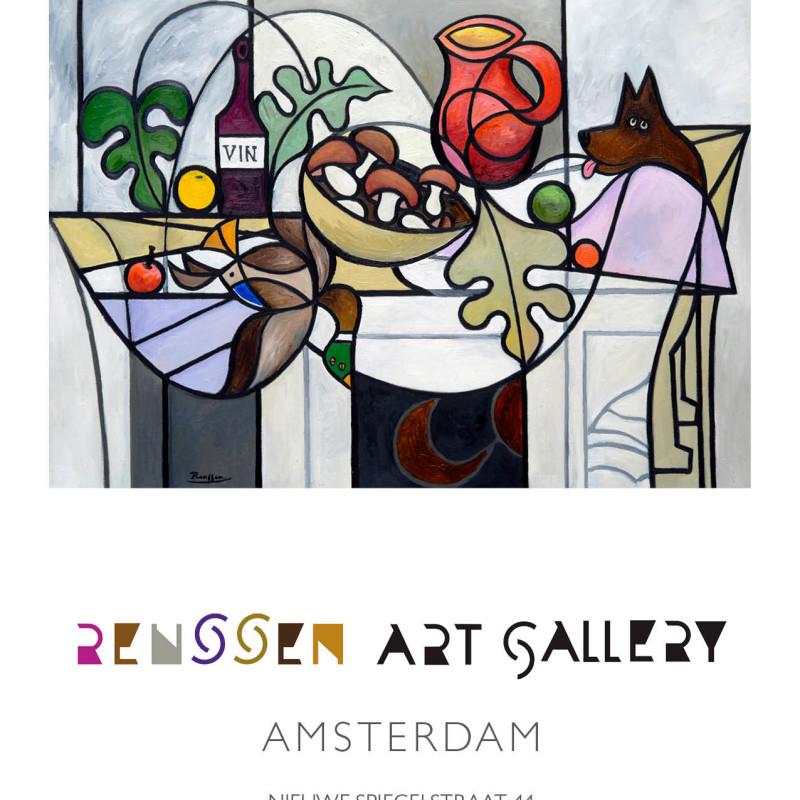 Erik Renssen - Still life with duck and dog, 2017, 2019