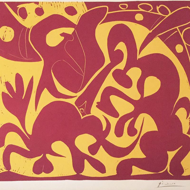 Pablo Picasso - Pique (rouge et jaune), 1959