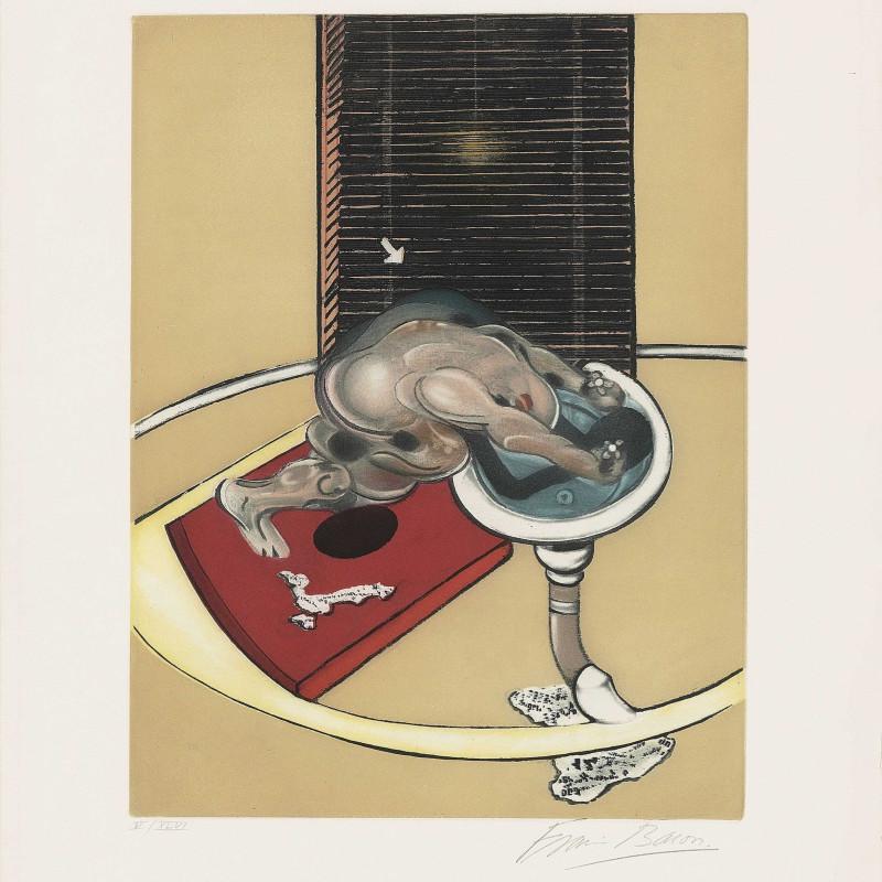 Francis Bacon, Figure at a Washbasin