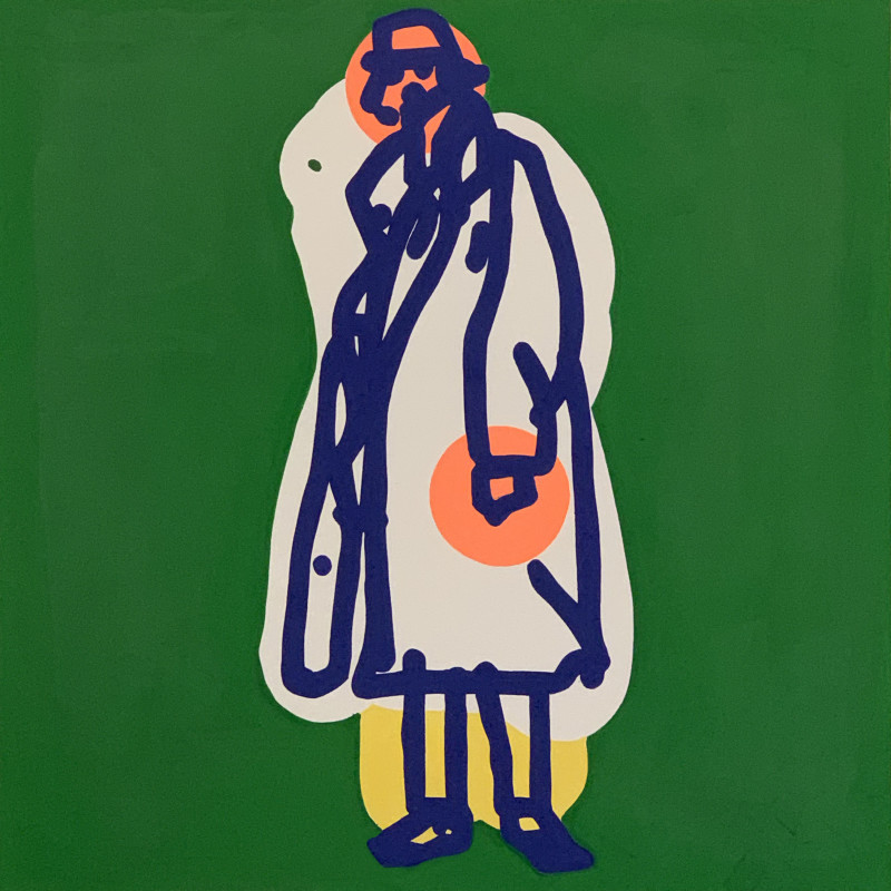 Toby Neilan, Figure on Green, 2021