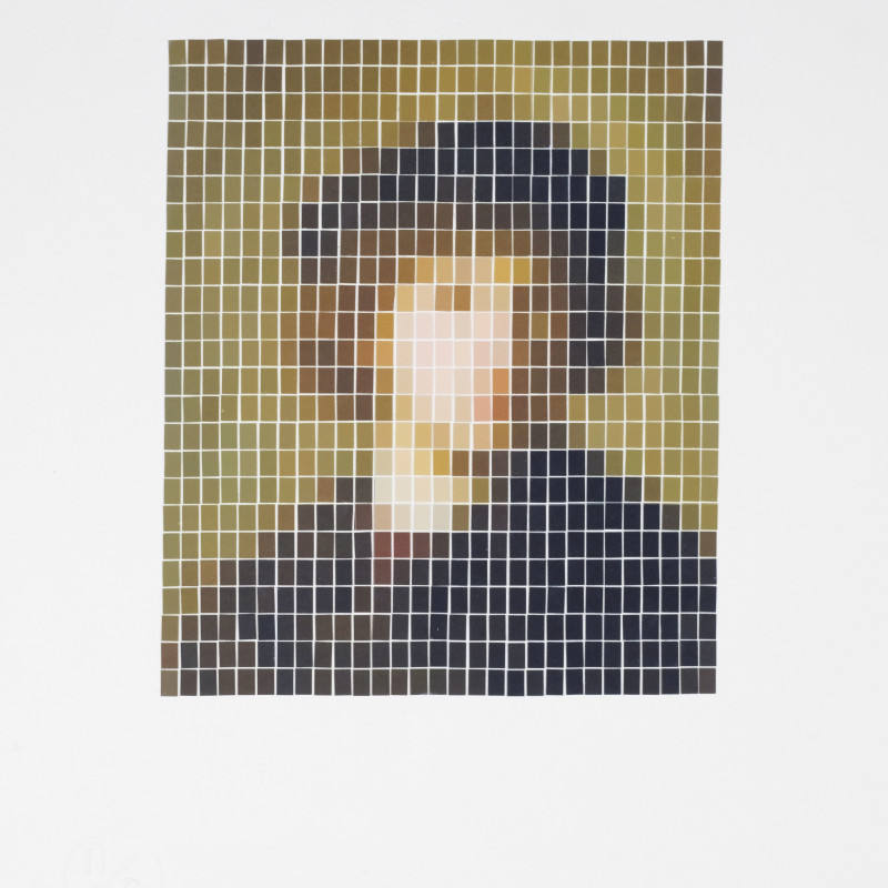 Nick Smith, Rembrandt - Self Portrait (Microchip), 2019