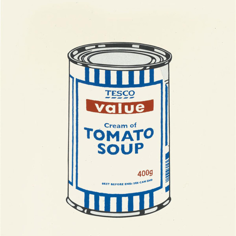 Banksy, Soup Can Original Colour