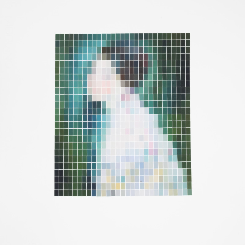 Nick Smith, Klimt - Portrait of a Woman (Microchip), 2019