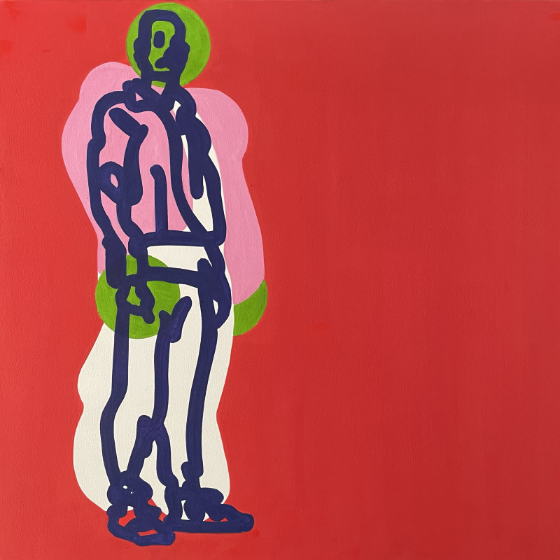 Toby Neilan, Figure on Red, 2021