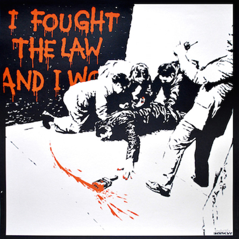 Banksy, I Fought The Law, 2004