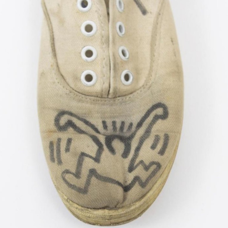 Keith Haring, Signed and Illustrated Plimsoles, (circa) Early 1980s